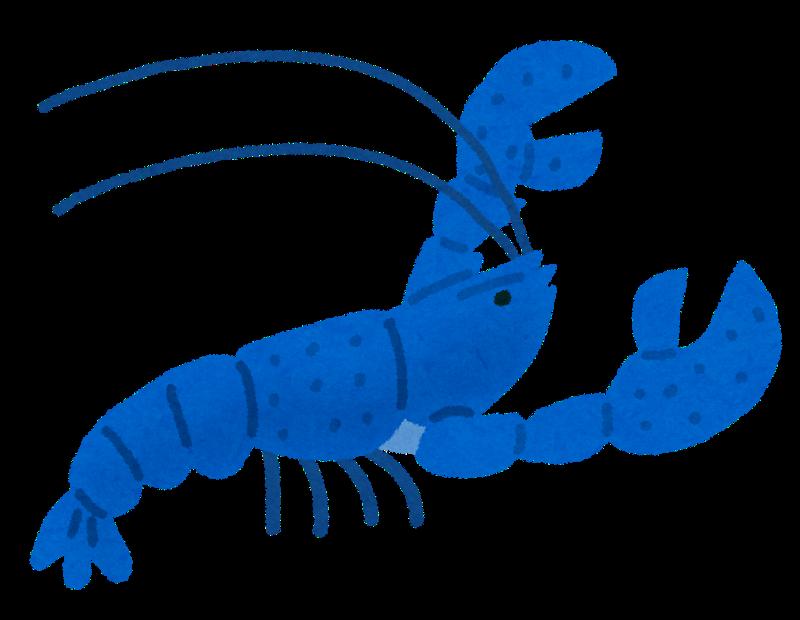 青いザリガニ